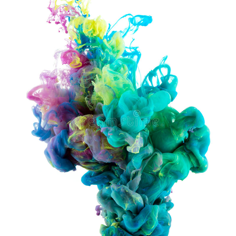 Absract color paint in water royalty free stock image