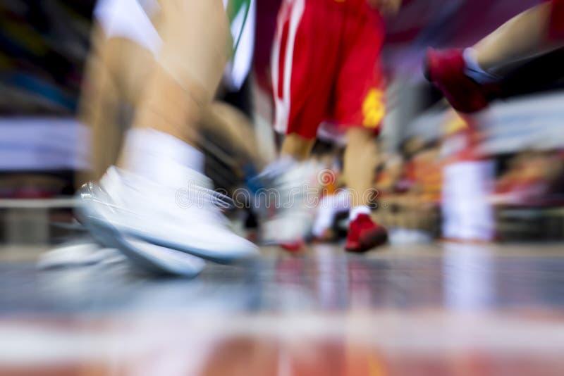Absract enfoca juego de baloncesto adentro de mudanza foto de archivo libre de regalías