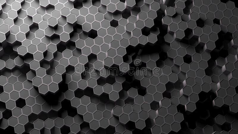 Absract-Hexagonmuster Wiedergabe 3d lizenzfreie abbildung