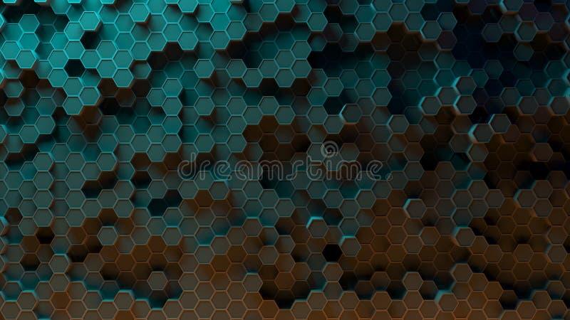 Absract-Hexagonmuster Wiedergabe 3d stock abbildung