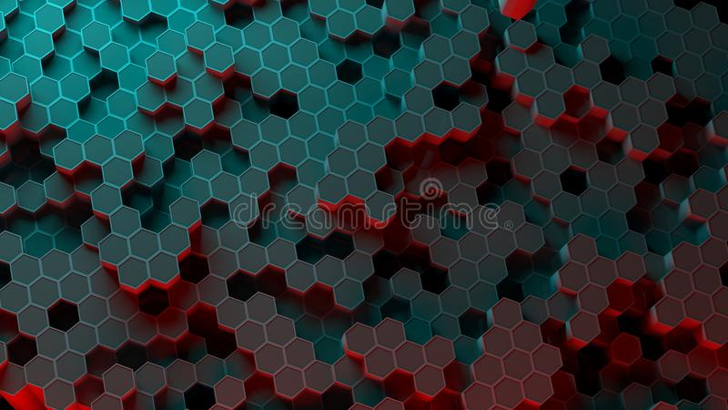 Absract-Hexagonmuster Wiedergabe 3d vektor abbildung