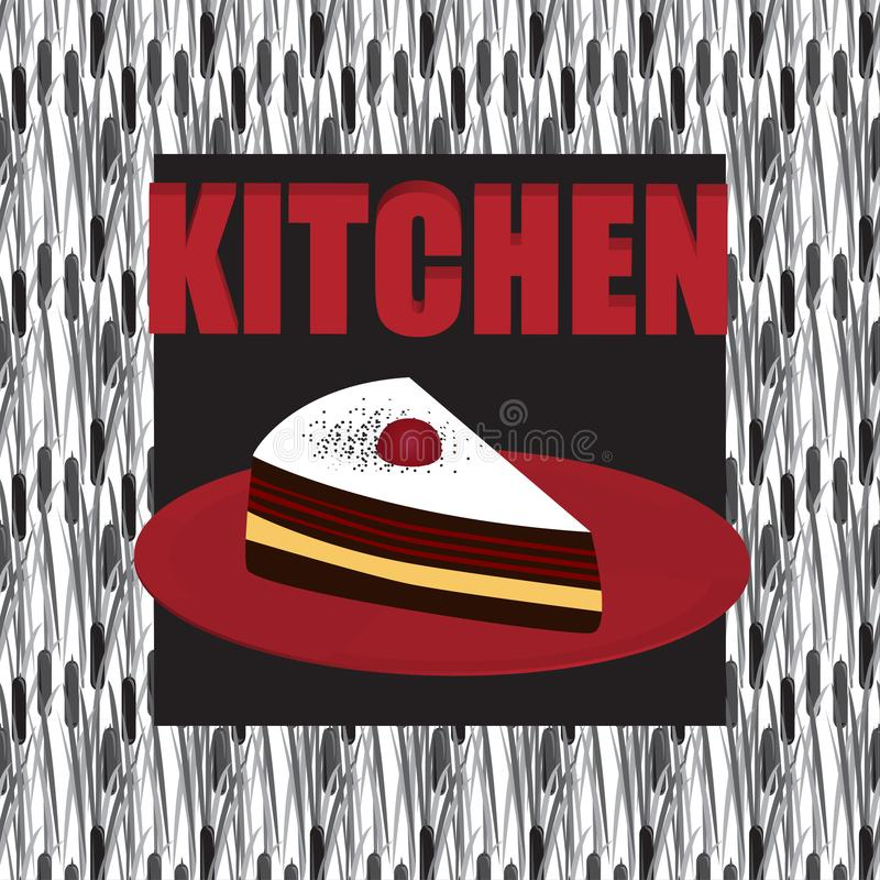 Decoration for the kitchen and the house. cake royalty free illustration