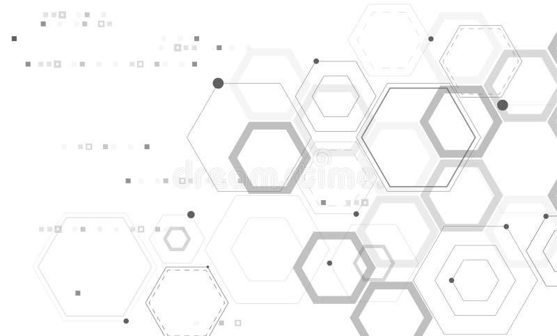 Absract-Technologie und Wissenschaftshintergrund lizenzfreie abbildung