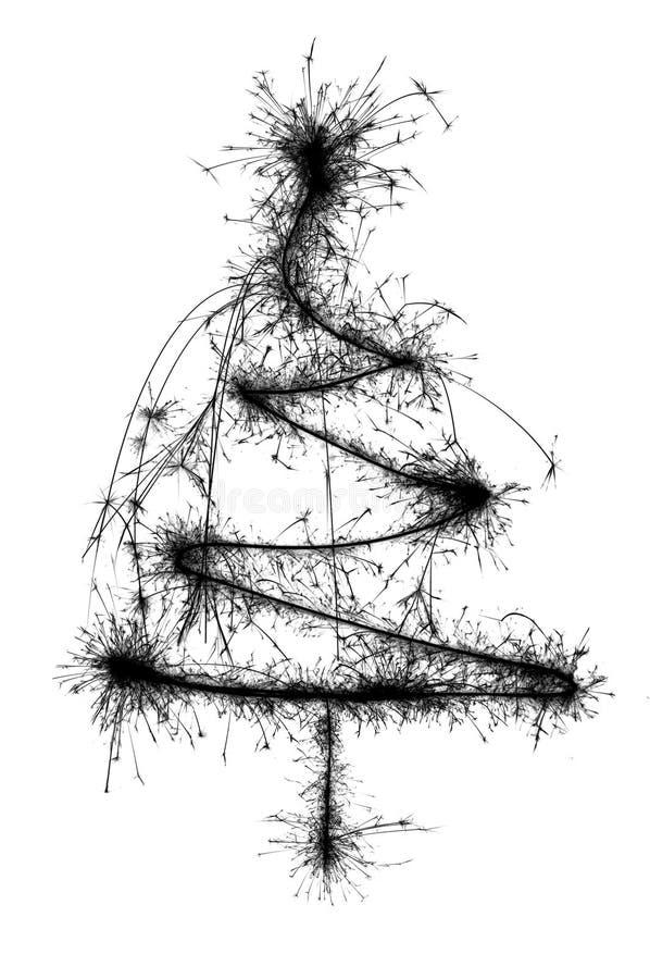 abstact圣诞树 免版税库存照片