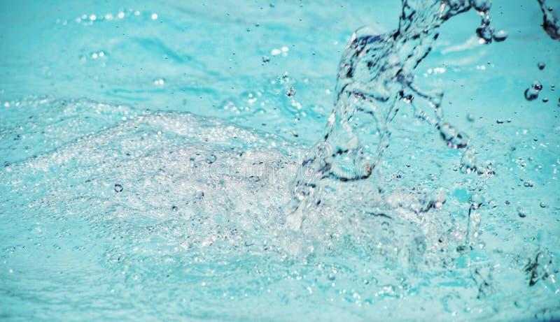 Abstact更加蓝色的背景充分的Frame†‹水滴下 库存照片