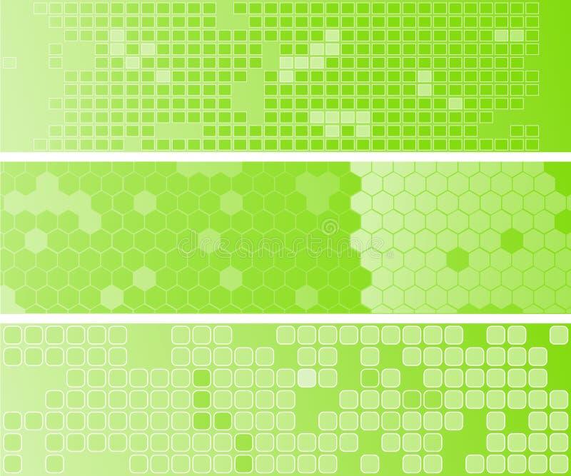 abstact πράσινος Ιστός τρία εμβλ&et στοκ φωτογραφία με δικαίωμα ελεύθερης χρήσης