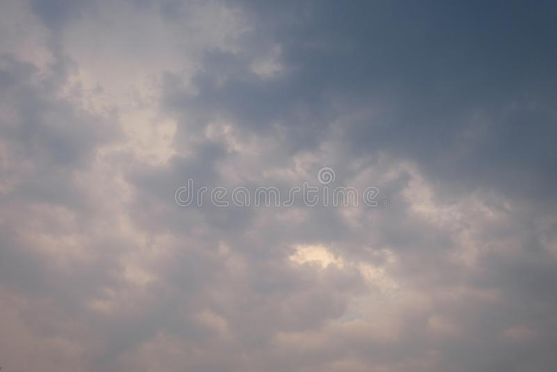 Abstact background Sky and dark clouds. Strom coming soon royalty free stock photography