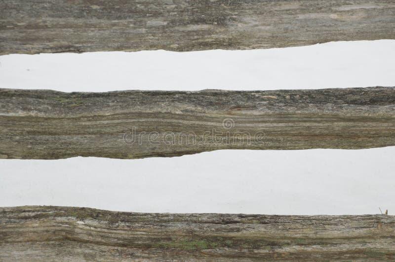 Abstact a barré la barrière de rail rustique de cèdre de fente photographie stock