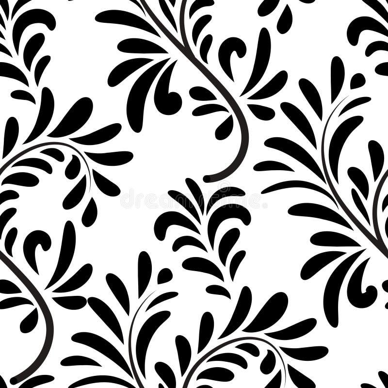 Abstact bezszwowy kwiecisty geometryczny deseniowy Kwiecisty zawijas le ilustracji