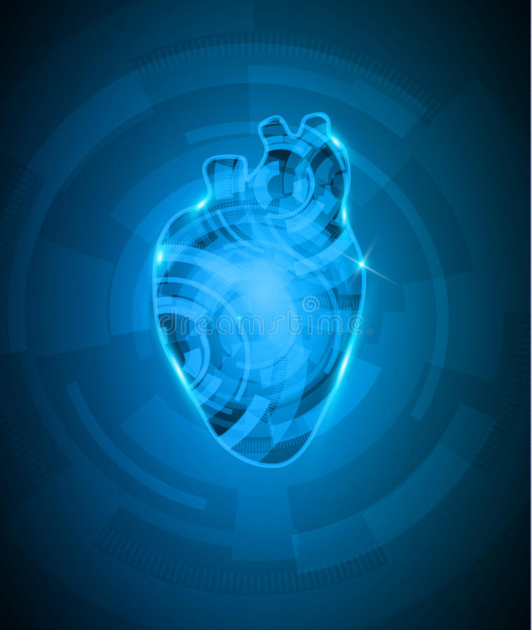 Free Abstact Heart Mechanism Royalty Free Stock Photos - 41655778