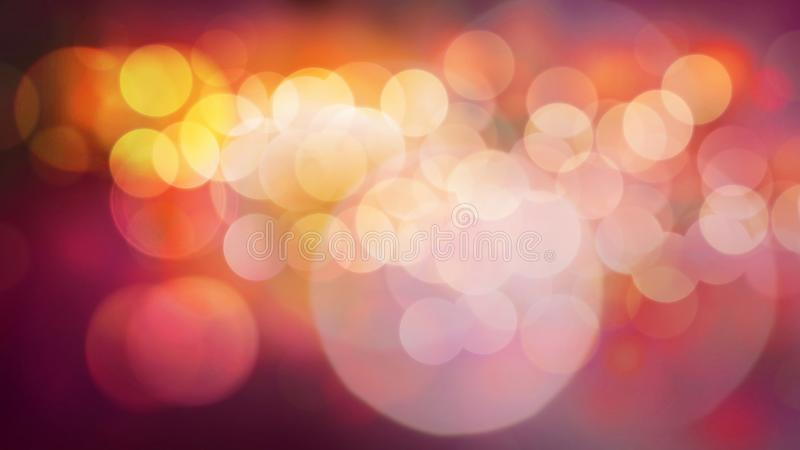 Abstact het dansen lichten in geel en rood stock foto