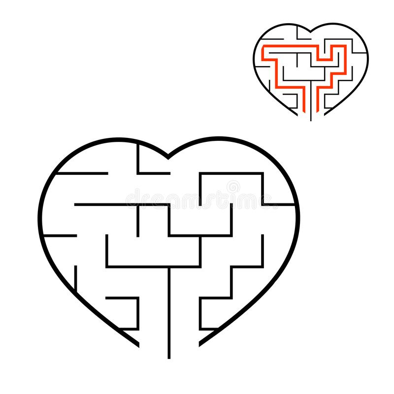 Abstact labyrinth. Educational game for kids. Puzzle for children. Maze conundrum. Find the right path. Vector illustration.  vector illustration
