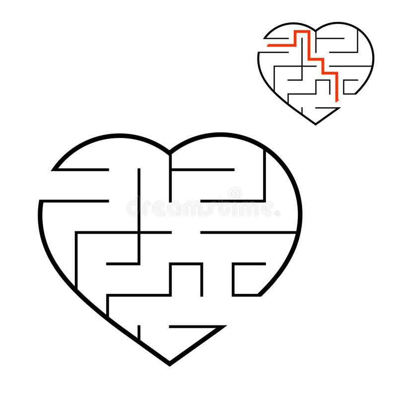 Abstact labyrinth. Educational game for kids. Puzzle for children. Maze conundrum. Find the right path. Vector illustration.  royalty free illustration