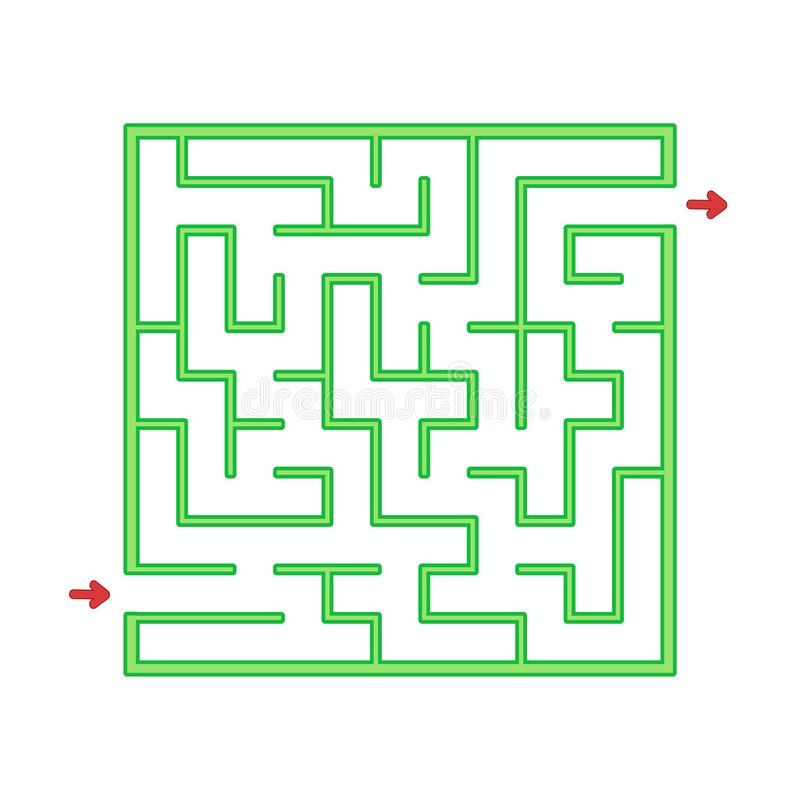 Abstact labyrinth. Game for kids. Puzzle for children. Maze conundrum. Find the right path. Color vector illustration.  vector illustration
