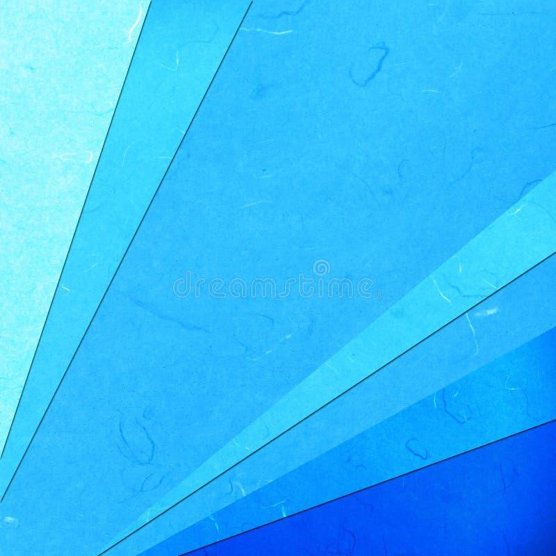 Abstact linéaire bleu coupé de papier de riz illustration stock