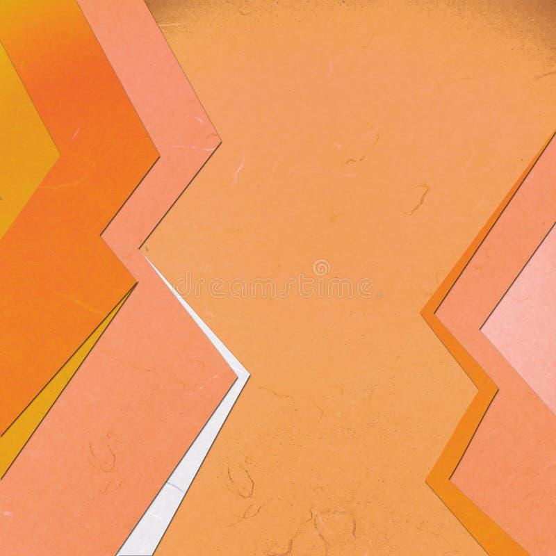 Abstact linéaire orange coupé de papier de riz illustration libre de droits