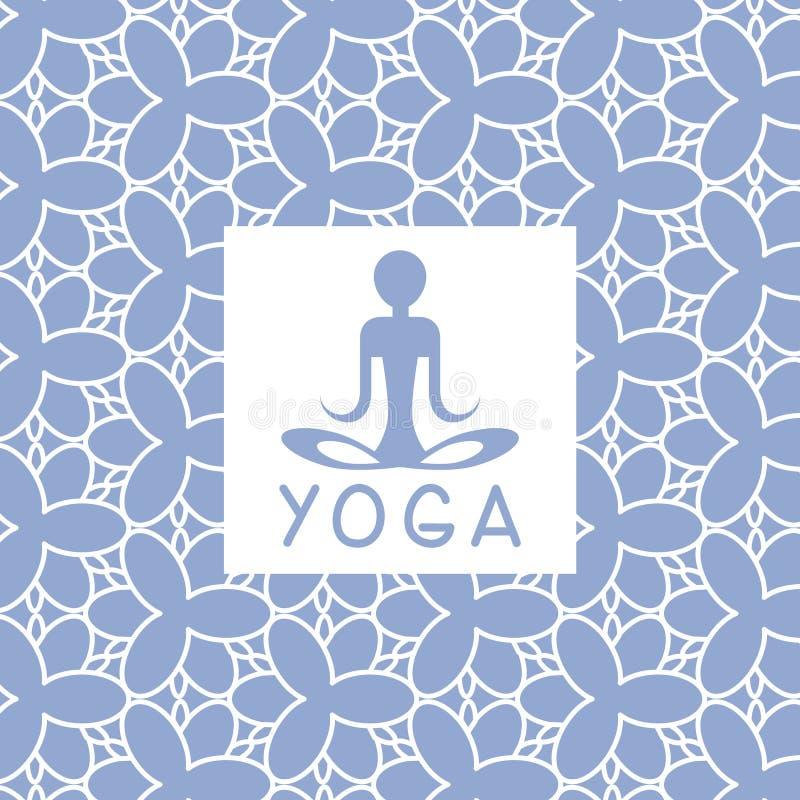 Abstact osoby Błękitny joga projekta Pracowniana karta ilustracji