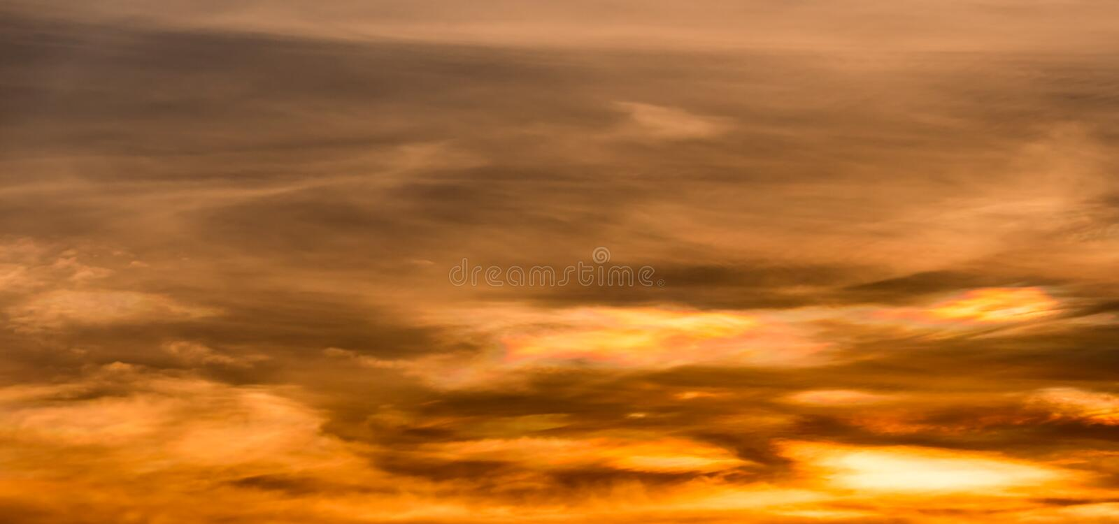 Abstact sky with clouds. Beautiful sunset sky background royalty free stock photography
