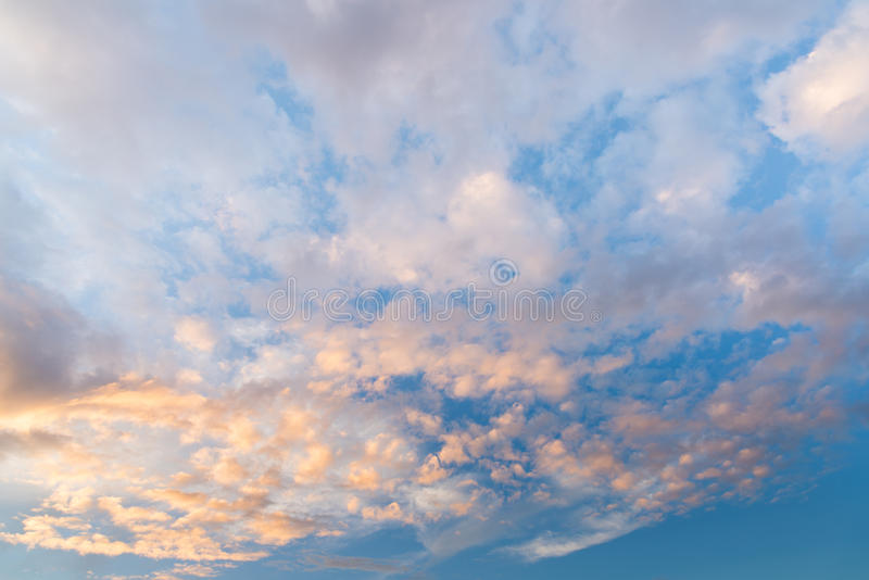 Abstact sky with clouds ,Beautiful sunset sky background.  royalty free stock photography