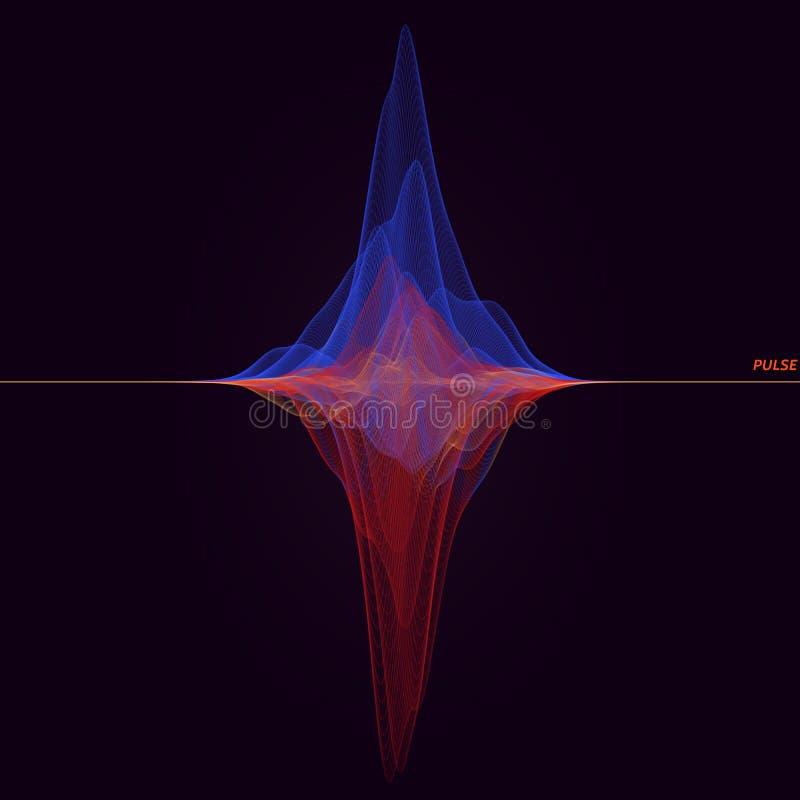 Abstact-Vektor-Wellensignal stock abbildung