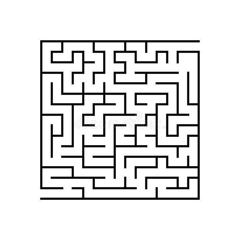 Abstactlabyrint Onderwijsspel voor jonge geitjes Raadsel voor kinderen Labyrintraadsel Vind de juiste weg Vector illustratie vector illustratie