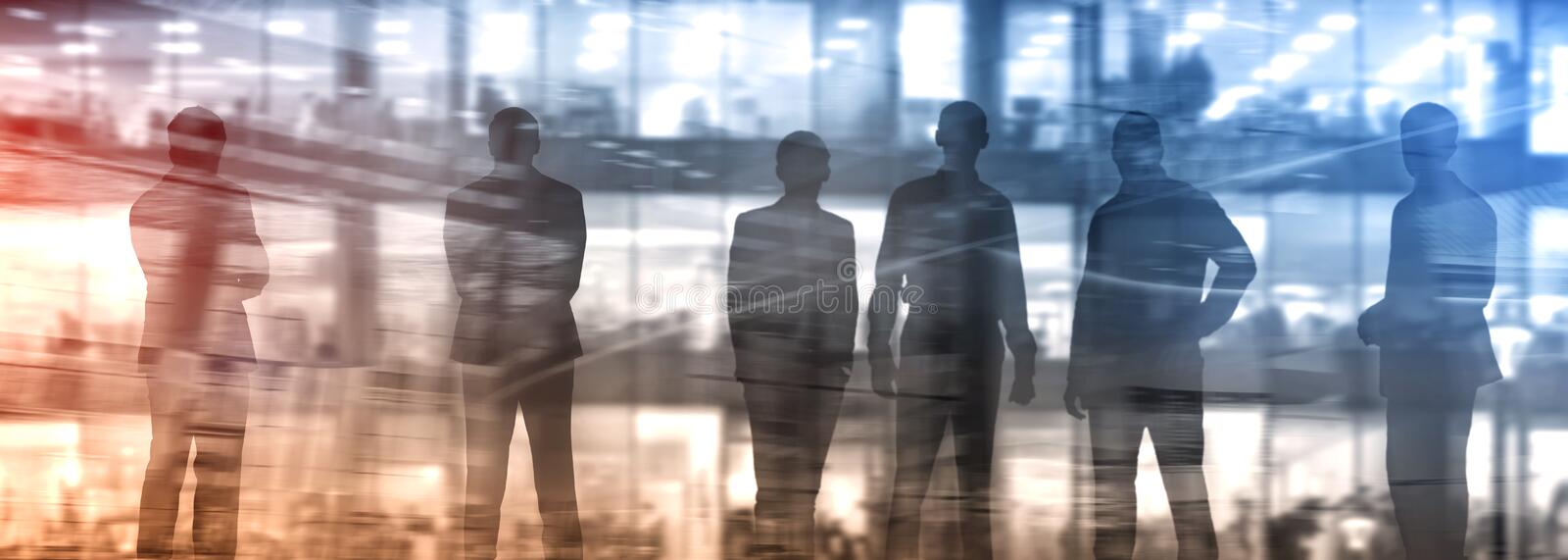 Abstakt image of people in the lobby of a modern business center with a blurred background stock photography