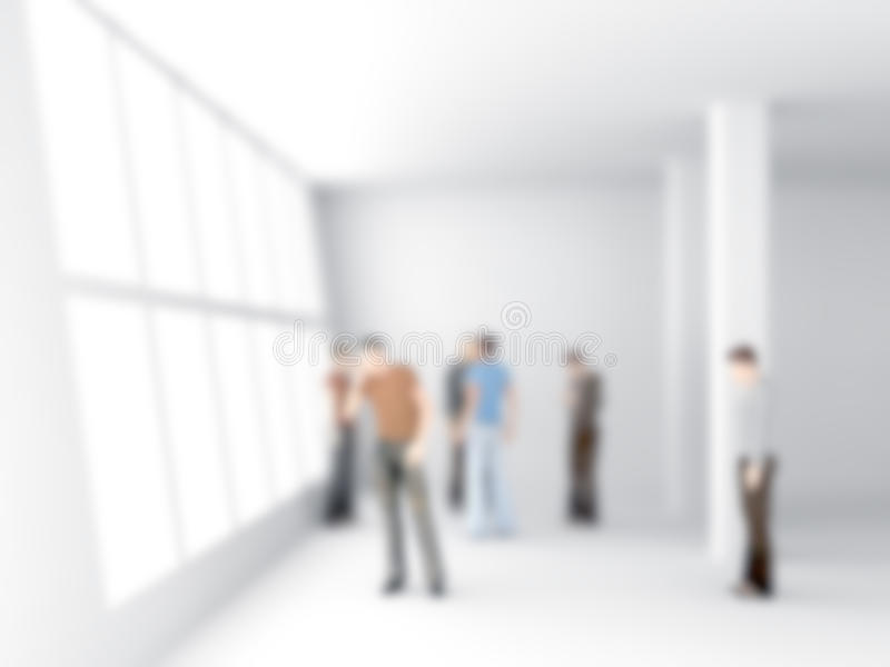 Abstakt image of people in the office center royalty free stock image