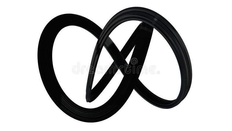 Abstarct形状做了坚实黑粒状塑料 皇族释放例证