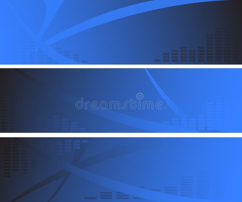 abstarct横幅蓝色三万维网 向量例证