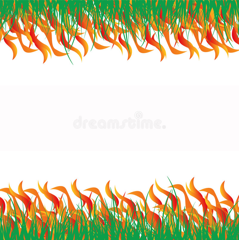 Abstarct allumé d'herbe illustration stock