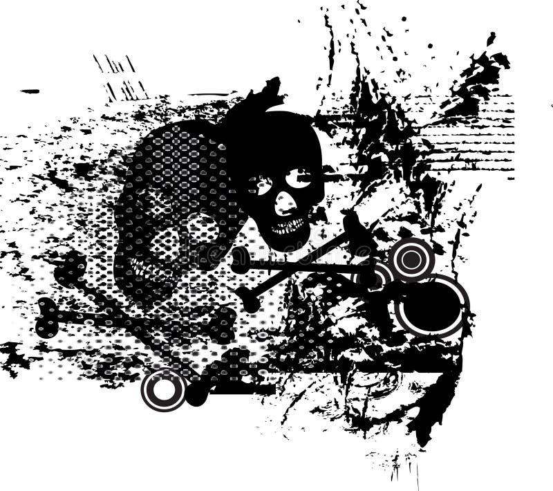 abstarct dekoraci czaszki ilustracji