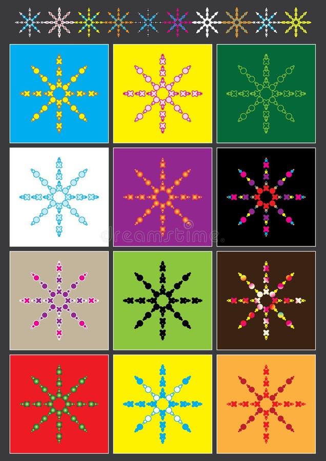 abstarct kolorowy divider eps kształt ilustracji