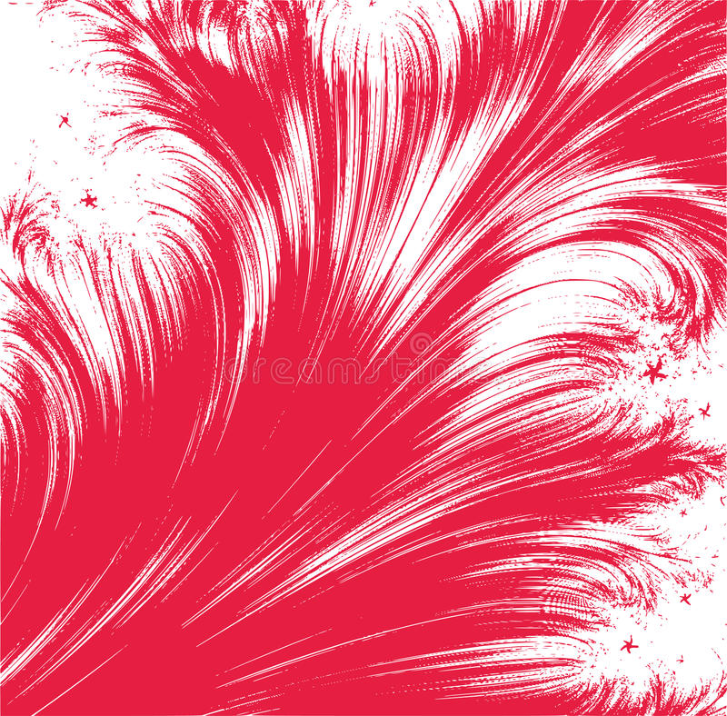 Abstarct red feather background royalty free illustration