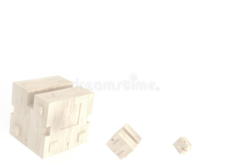 Abstarktny background with geometric shapes in the form of cube stock image