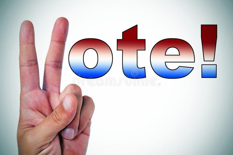 Abstimmung! stockbild