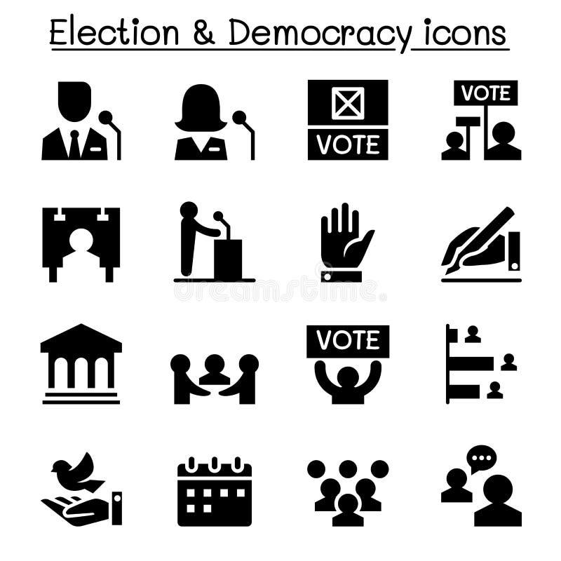 Abstimmung, Demokratie, Wahl, Ikone vektor abbildung