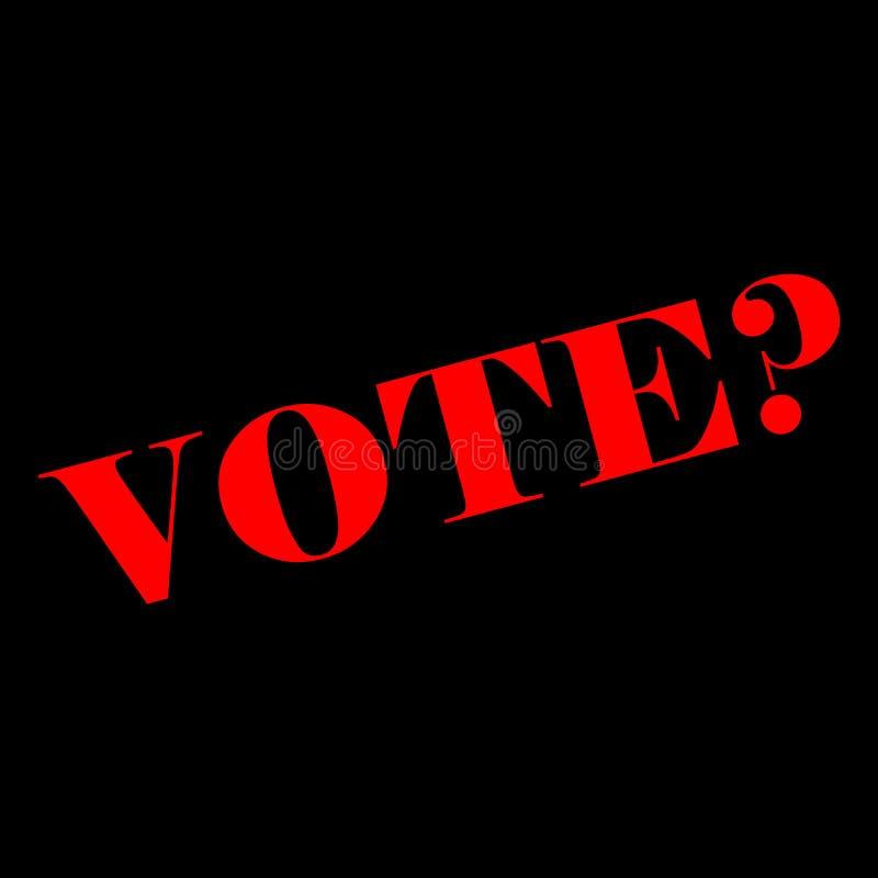 Abstimmung in der Wahl stock abbildung