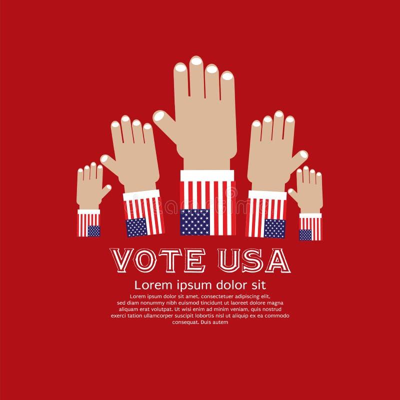 Abstimmung für Wahl. lizenzfreie abbildung