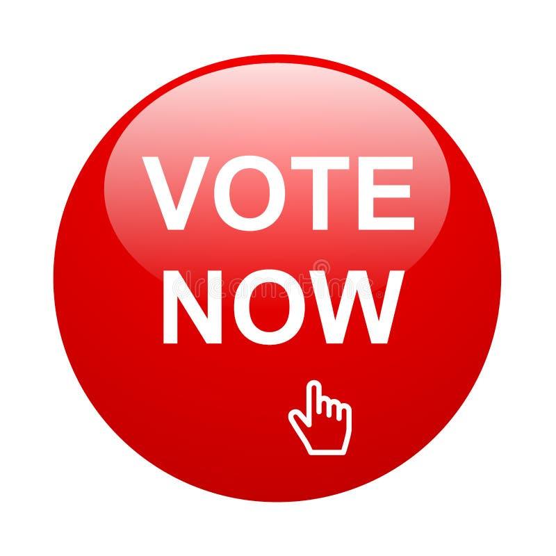 Abstimmung jetzt stock abbildung