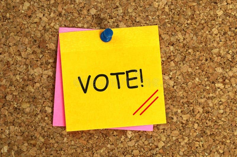 Abstimmung klebrig stockfotografie