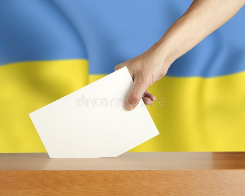 Abstimmung Ukraine lizenzfreie stockfotografie