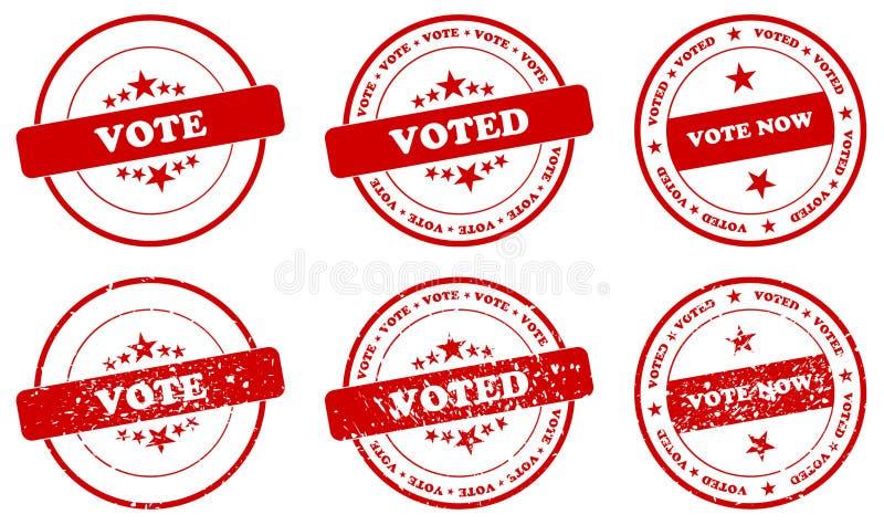 Abstimmungs-Stempel lizenzfreie abbildung