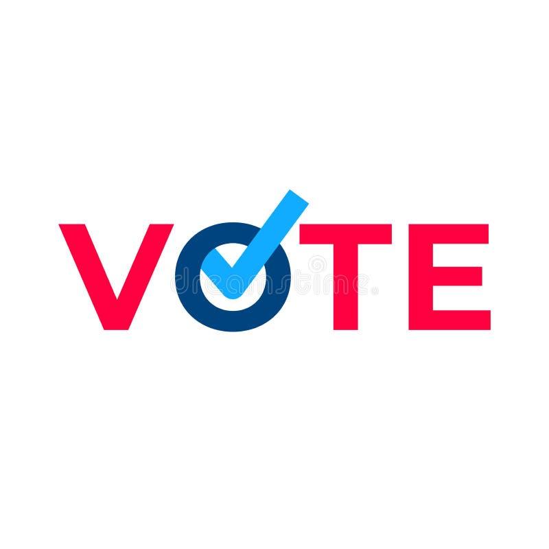 Abstimmungshäkchenstimmzettel vektor abbildung