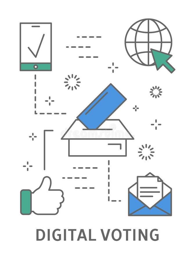 Abstimmungsillustration Digital lizenzfreie abbildung