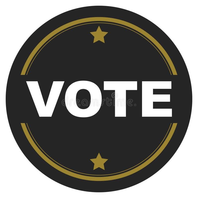 Abstimmungsknopf mit Sternen stock abbildung