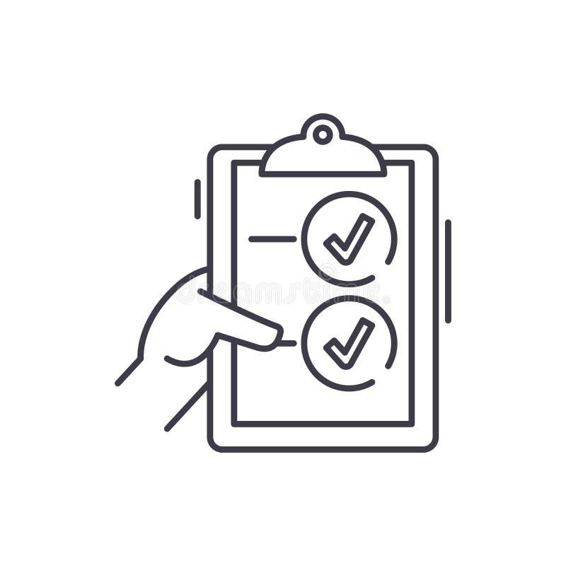 Abstimmungslinie Ikonenkonzept Abstimmungslineare Illustration des vektors, Symbol, Zeichen stock abbildung
