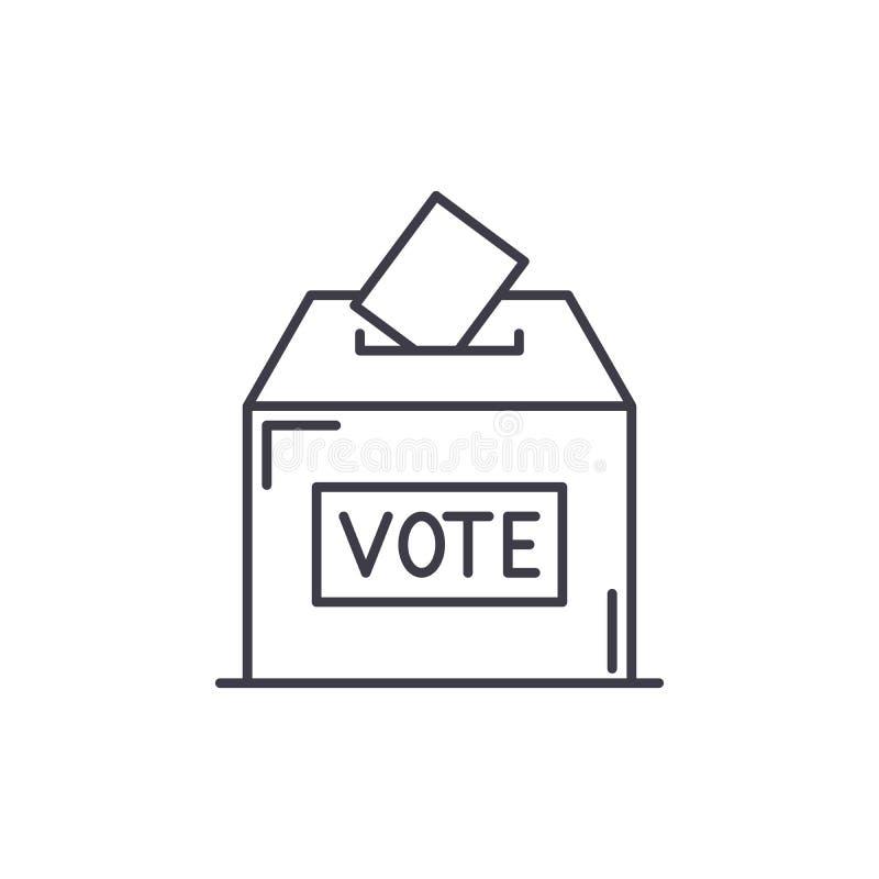 Abstimmungslinie Ikonenkonzept Lineare Illustration des Abstimmungsvektors, Symbol, Zeichen vektor abbildung