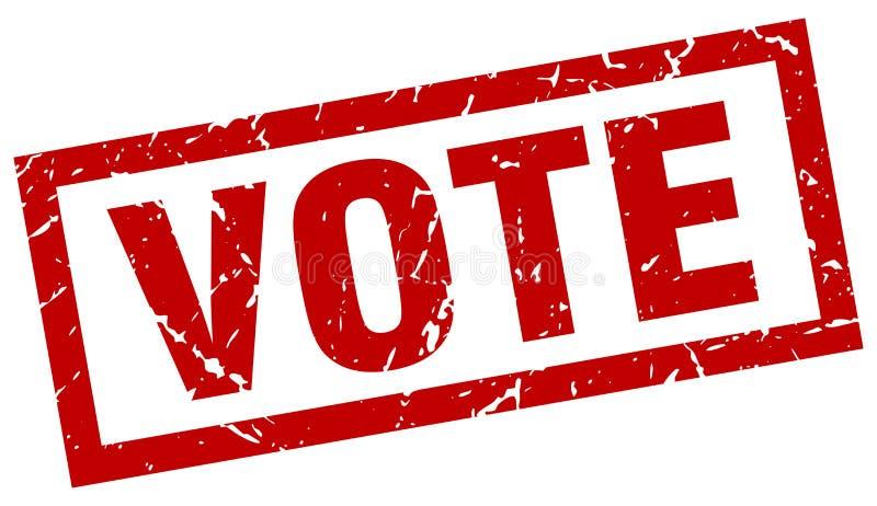 Abstimmungsstempel lizenzfreie abbildung