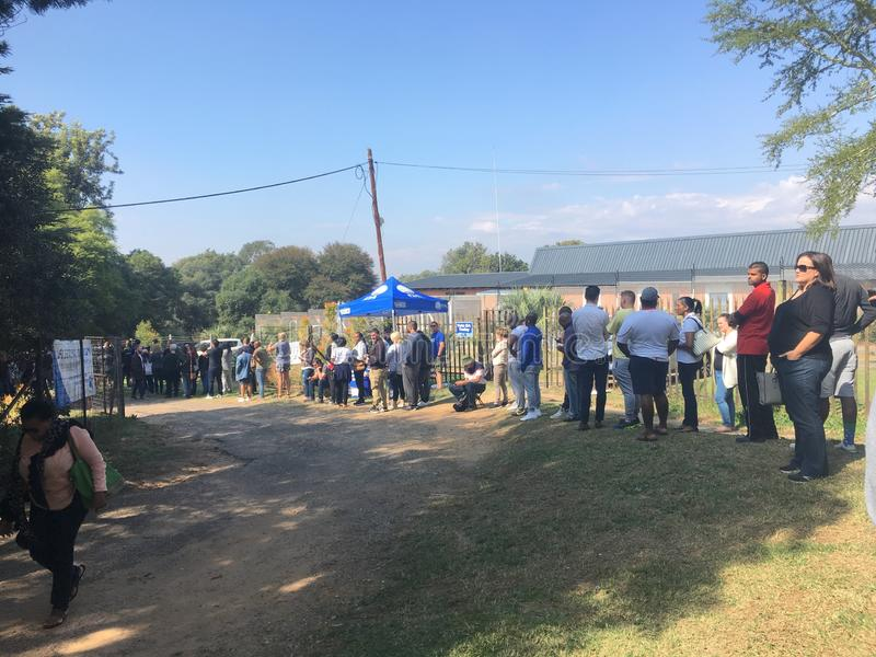 Abstimmungstag in Südafrika 2019 stockfoto