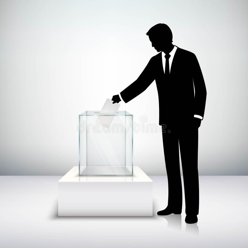 Abstimmungswahl-Konzept lizenzfreie abbildung